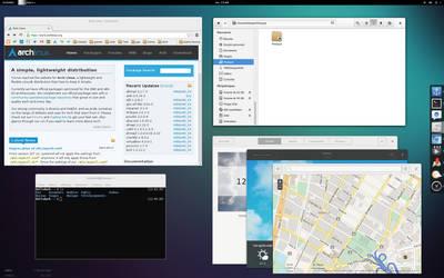 ArchLinux + Gnome 3.10 by HellsDark