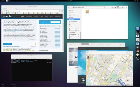 ArchLinux + Gnome 3.10