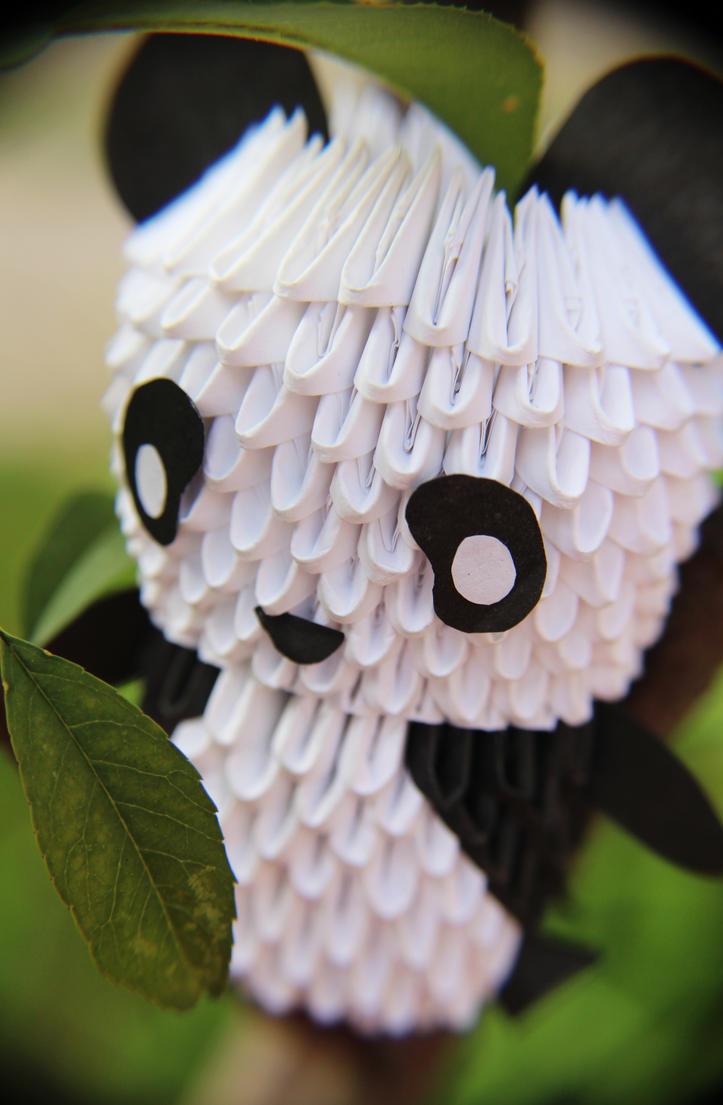 Origami Panda by RoseaOrchis