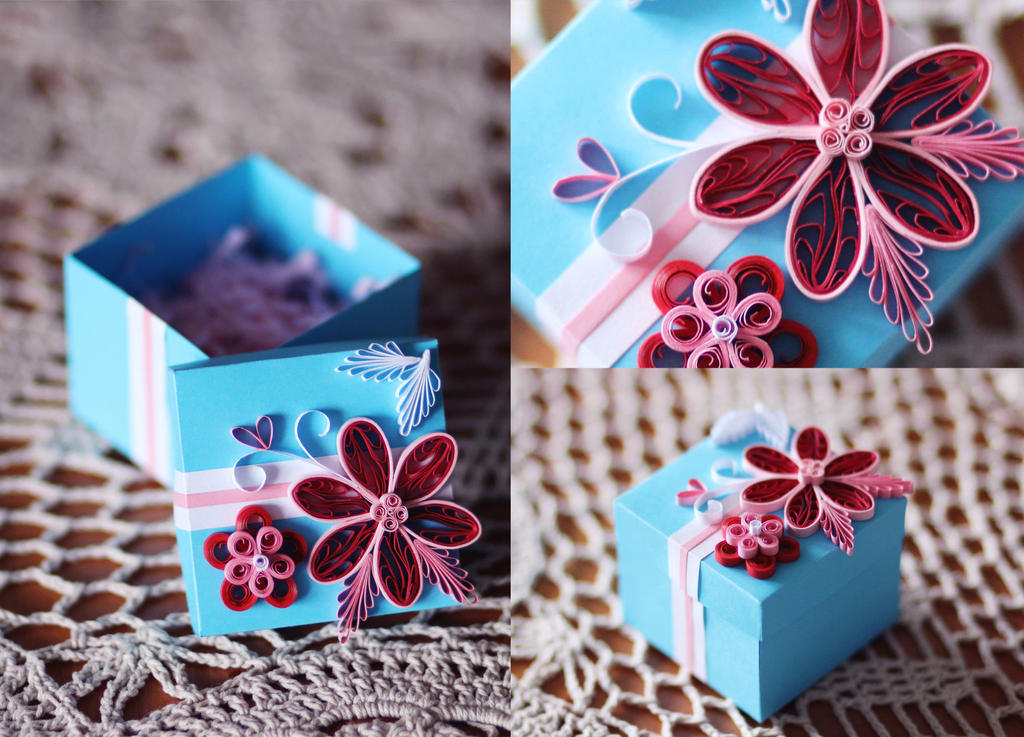 Quilling box by RoseaOrchis