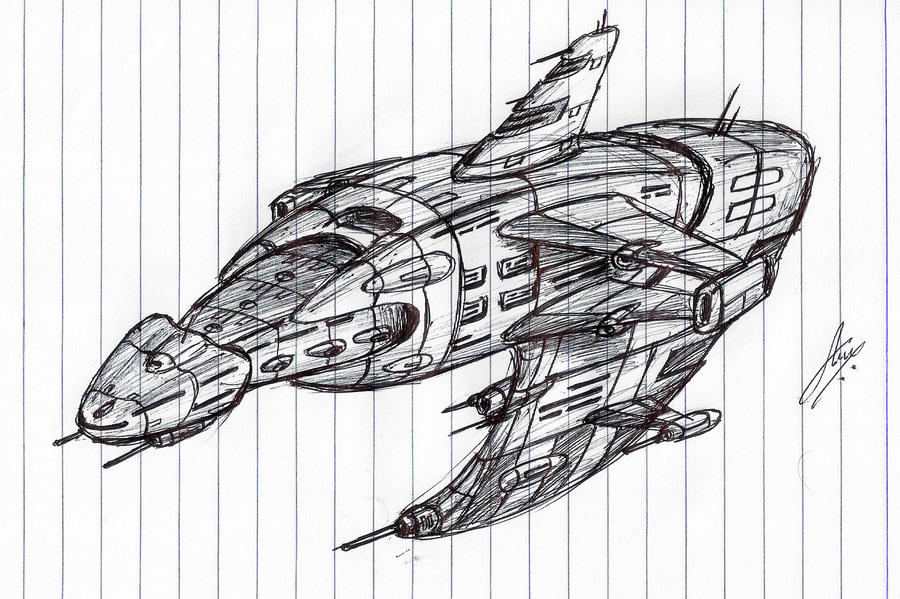 """Warbeast"" Assault Cruiser WIP by Inquisitor-No-7"