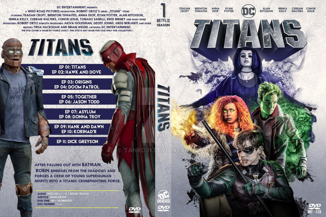 Dc S Titans S 01 Dvd Cover Version 1 By Tanko91 On