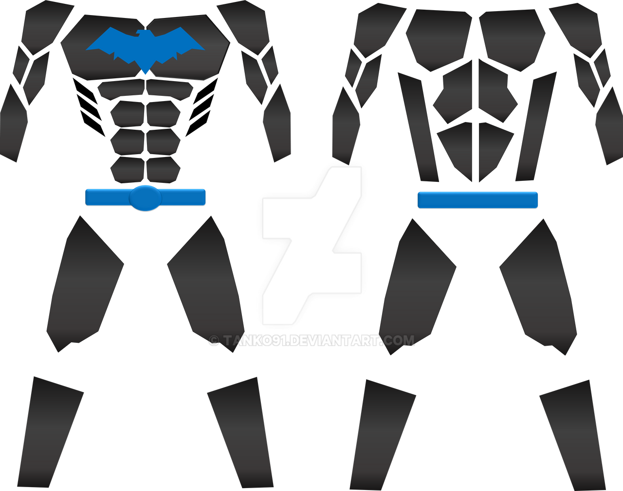 Nightwing Alt Armor Template By Tanko91 On Deviantart