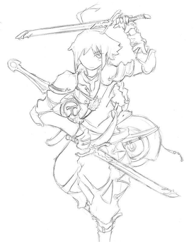 Sketch- The Hero Gaol by Niou