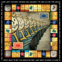 Fallout Monopoly Board by PinkAxolotl