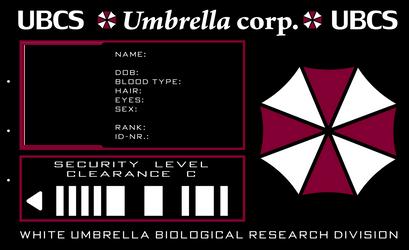 Umbrella ID card