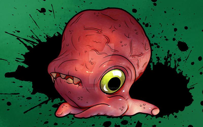 Cute Creature Concept by PinkAxolotl