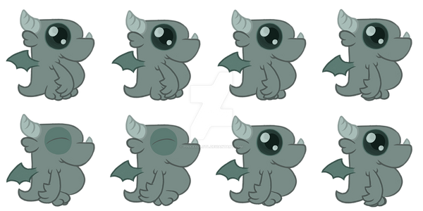 Gargoyl Sprithesheet by PinkAxolotl