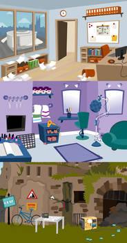 Adventure Game Backgrounds for BridgeKids