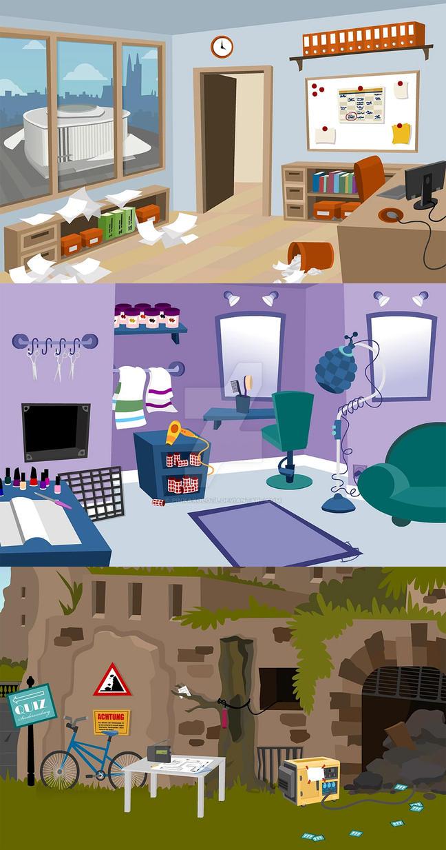 Adventure Game Backgrounds for BridgeKids by PinkAxolotl