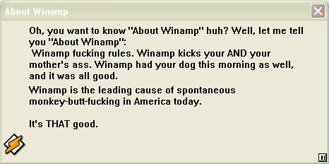 About Winamp by em