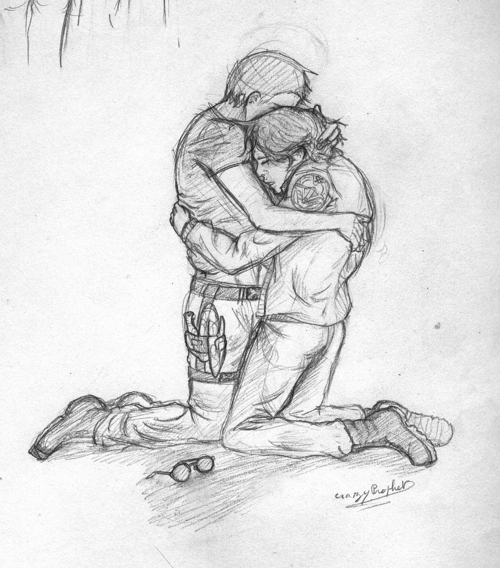 how to draw a hug