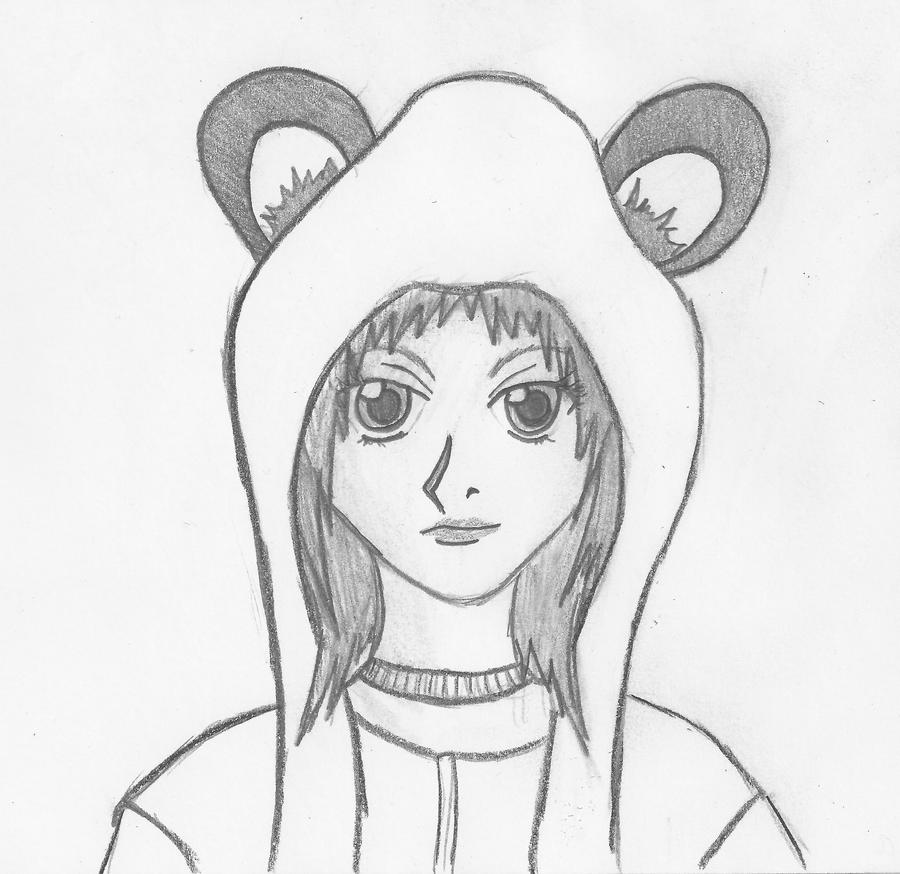 Girl with Panda Hoodie by WinglessDragunHow To Draw Anime Girl With Hoodie