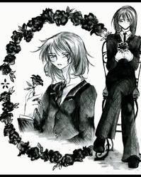 first black rose by tenshikaosu