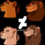 Lion Headshot Adopts [Closed]