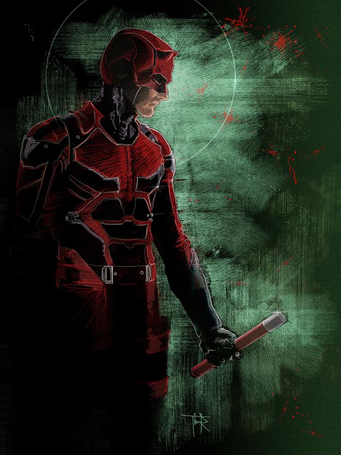 Marvel's Daredevil Netflix by DRAWBAK