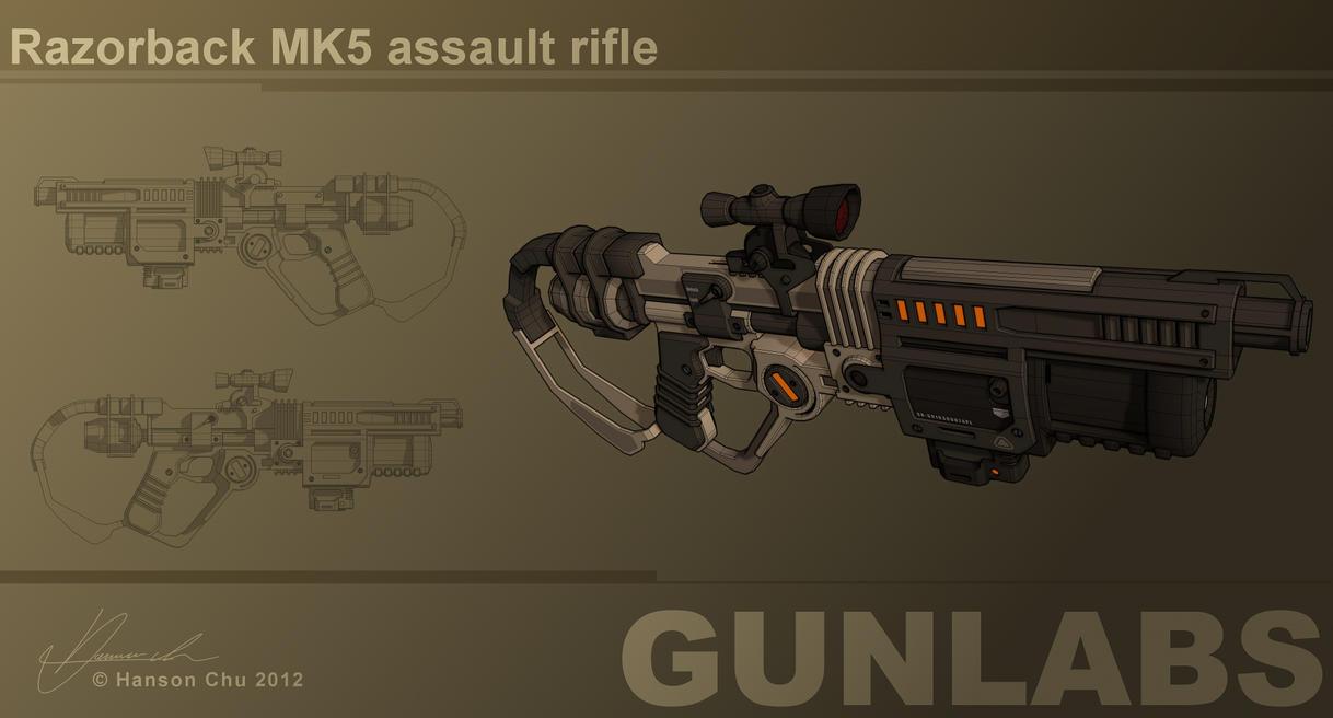Razorback MK5 Assault Rifle Concept by dematics