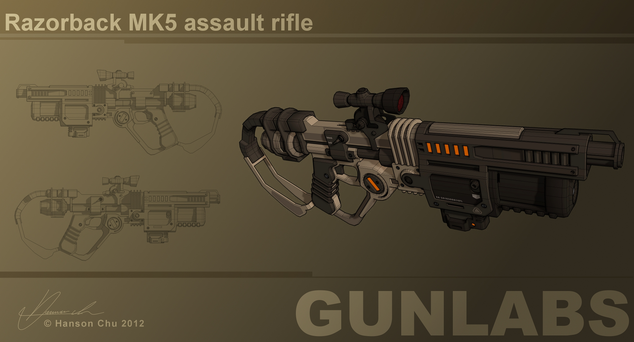 Razorback MK5 Assault Rifle Concept by dematics