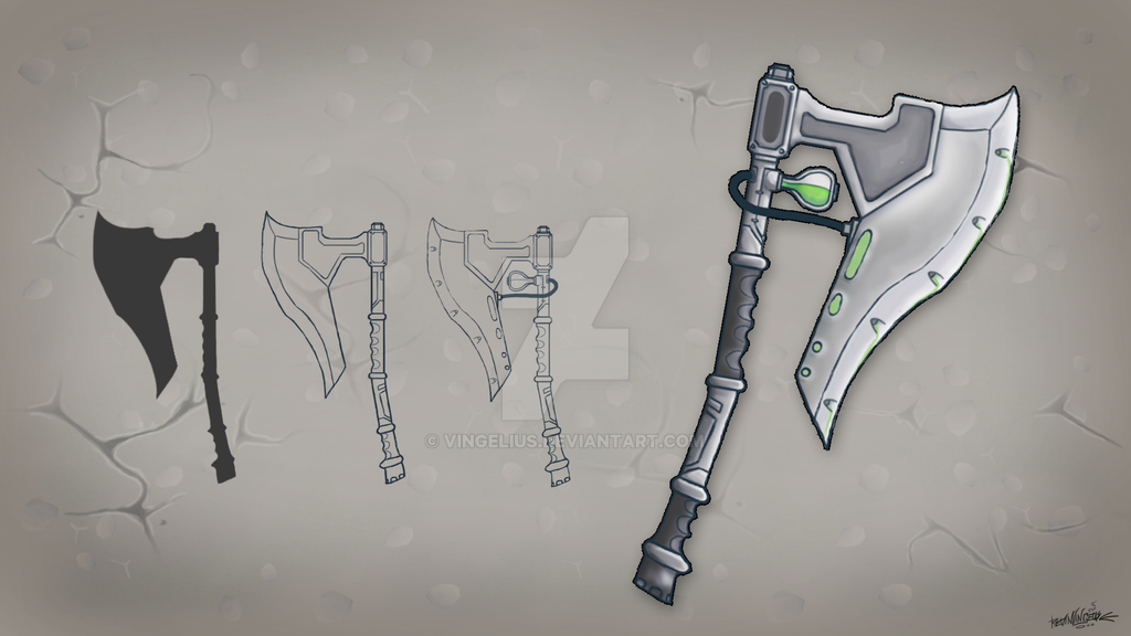 Sci Fi Poison Battle Axe Game Concept By Vingelius On Deviantart