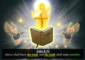 john 8:32 by alexpixels