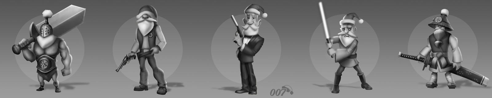 Santa Claus character design by airdolphin