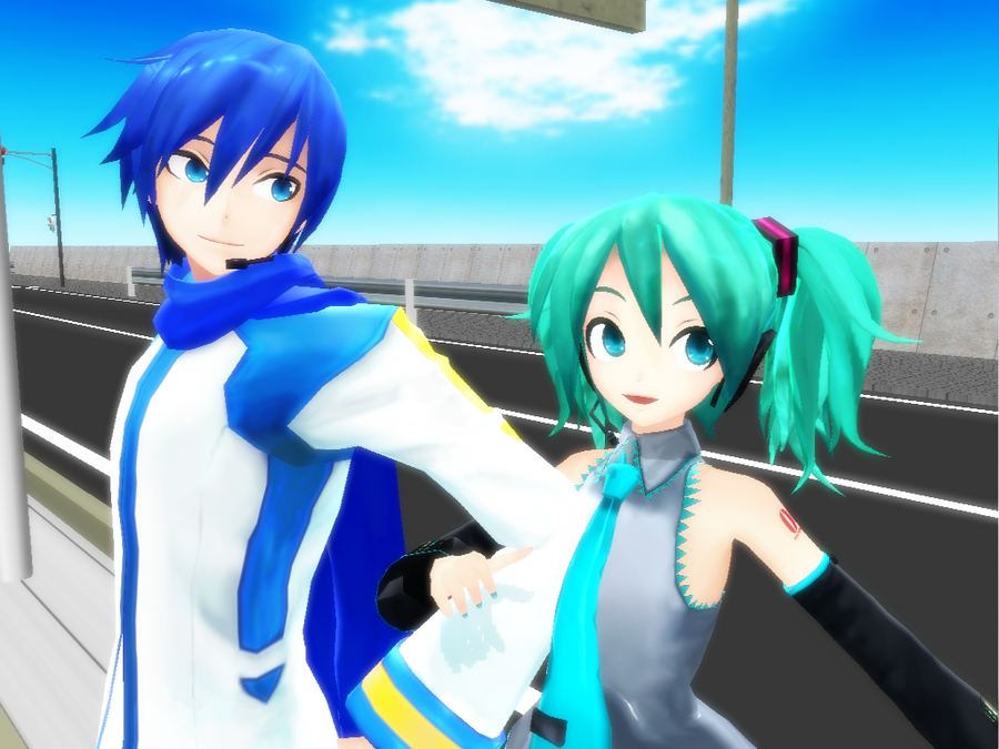 Project Diva Kaito and Miku by Kaiko-Ritsu