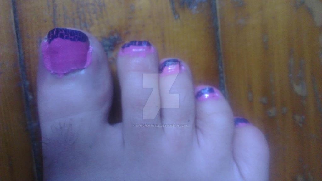 Pink Blue Nail Art Toe Nails By Mrscromwell On Deviantart