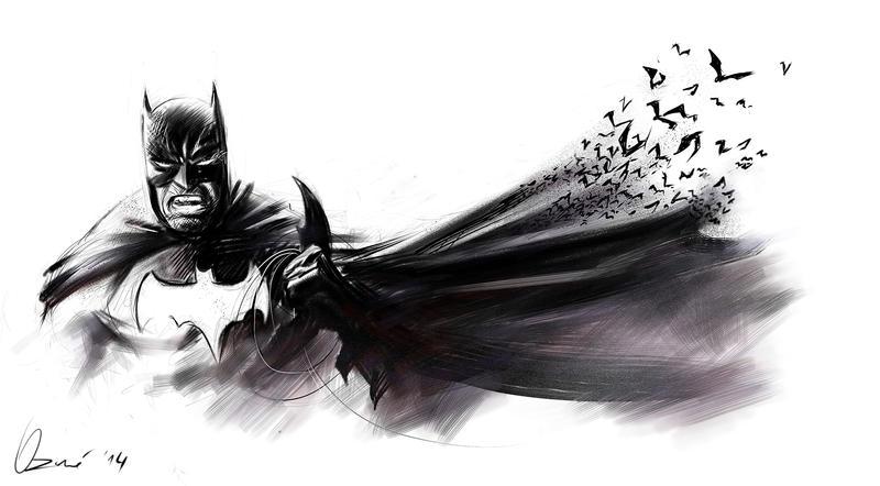 Batman Prelim Sketch by ArminOzdic