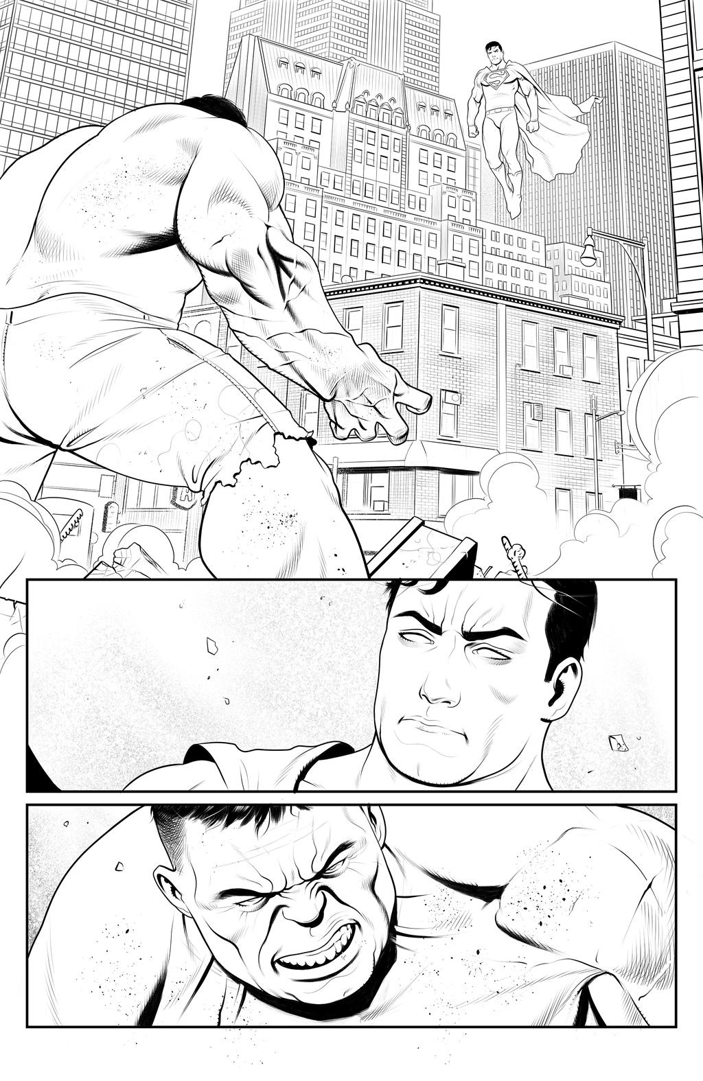 Hulk vs Superman Page 1 by ArminOzdic