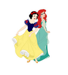 Snow White and Ariel 01 by Lady-Angelia-13