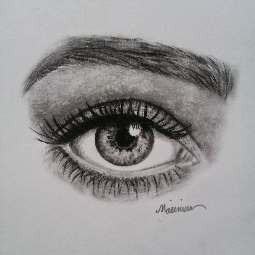 Eye pencil drawing by mattimo art