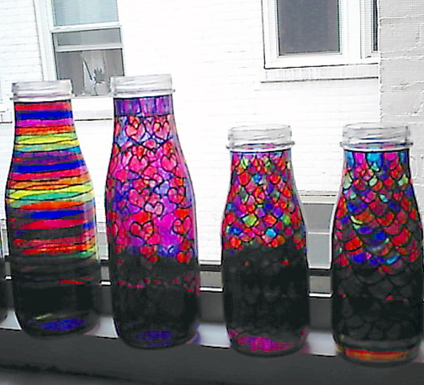 decorated glass bottles. 4 Hand Decorated Glass Bottles by LaVetteMarie  on DeviantArt