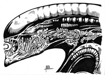 HR Giger Alien by pa5cal