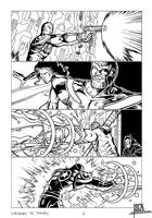 Superman vs Thanos - Comic portfolio chap. 1, p 4 by pa5cal