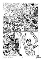 Superman vs Thanos - Comic portfolio chap. 1, p 5 by pa5cal