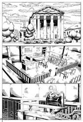 Comic Portfolio Film Noir Chapter 3 p. 1 pencils