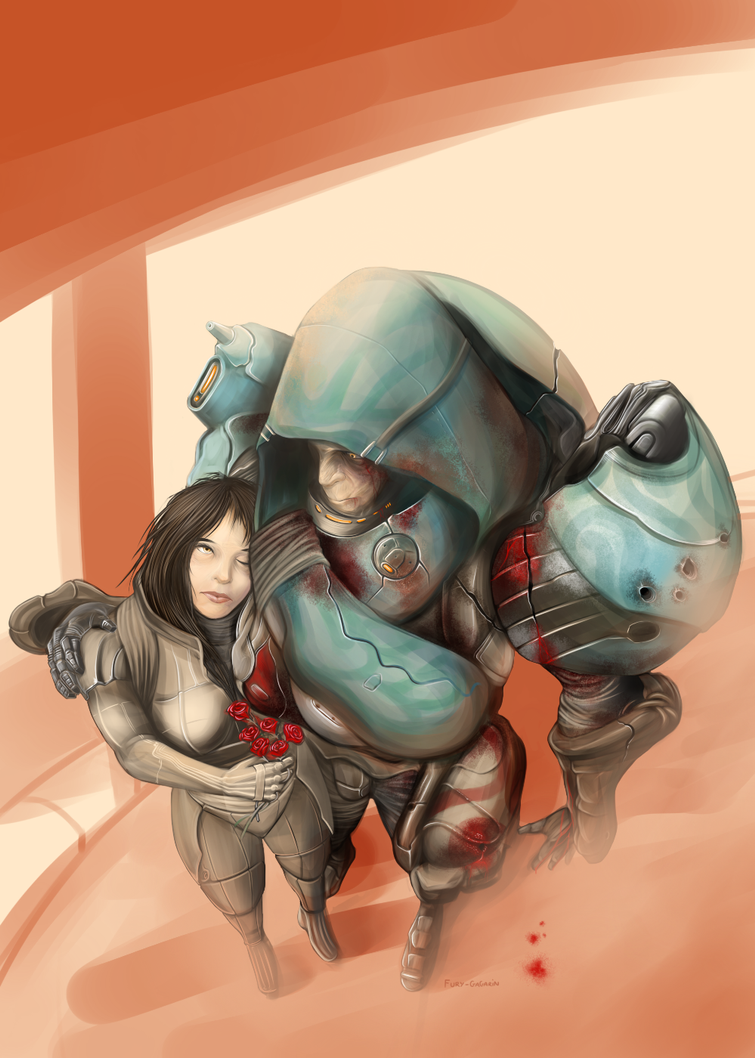 The Soldier and the Colonist by The-Siege-Engine