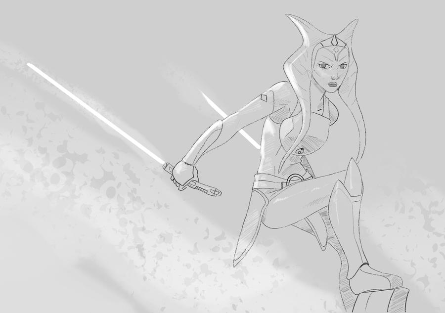 Ahsoka Tano Sketch By Envidia14 On DeviantArt