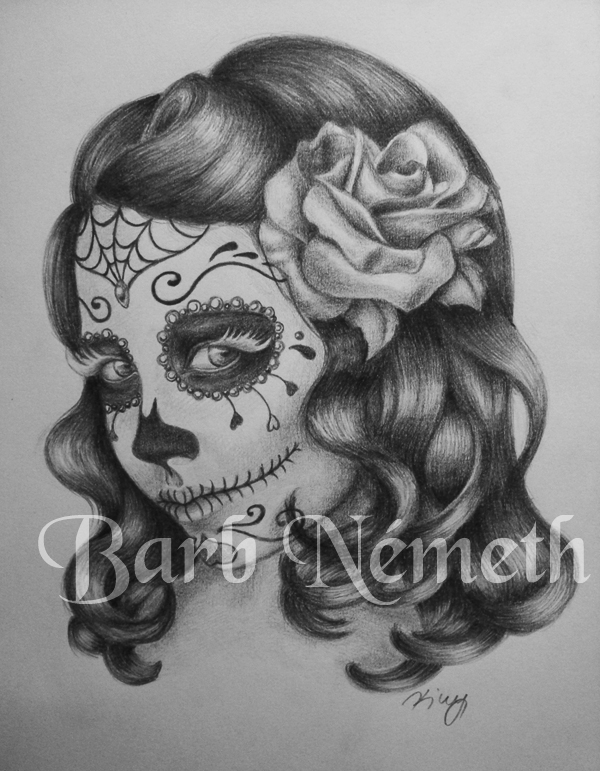 Sugar Skull Girl by Kiwy on DeviantArt