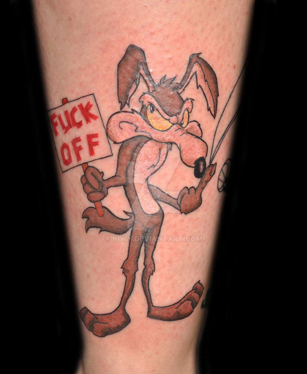 A Message From Wile E. Coyote Tattoo By Kiwy On DeviantArt