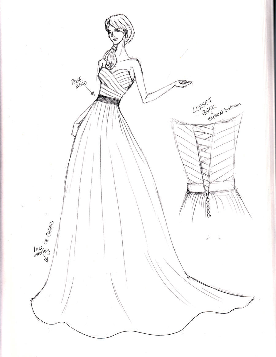 Sketch Wedding Gown By Shushuwafflez On DeviantArt