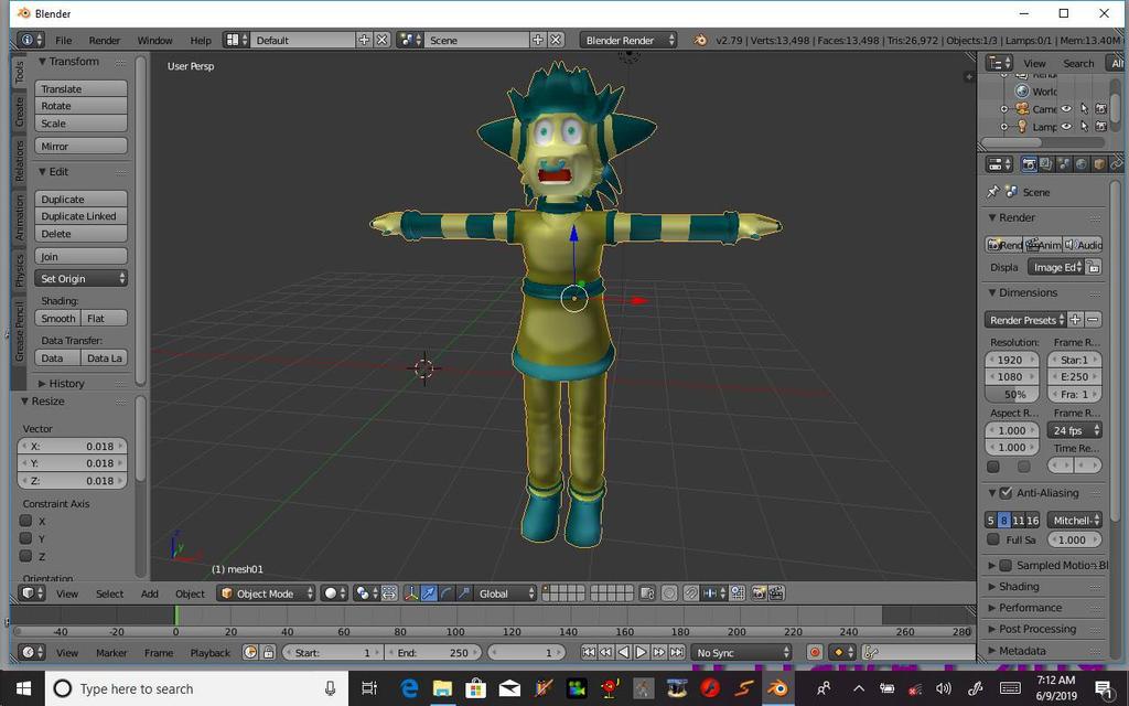 3D Modeling/Stuff - Blender Training Camp  by TheDeltaFurezian on