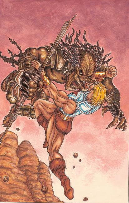 Predator vs He-man by Jams-da-1
