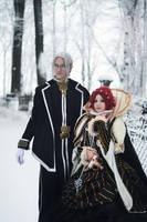 Abel Nightroad with Esther Blanchett by OkariDane