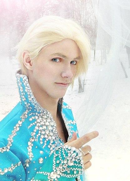 Elias - Frozen (Elsa Male Version Cosplay) Disney by OkariDane