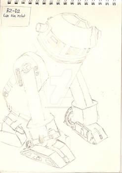 R2-D2  Life size robot sketch
