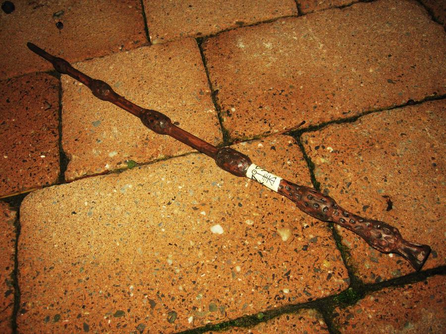 Homemade elder wand by bulletinyurass on deviantart for Elder wand made of