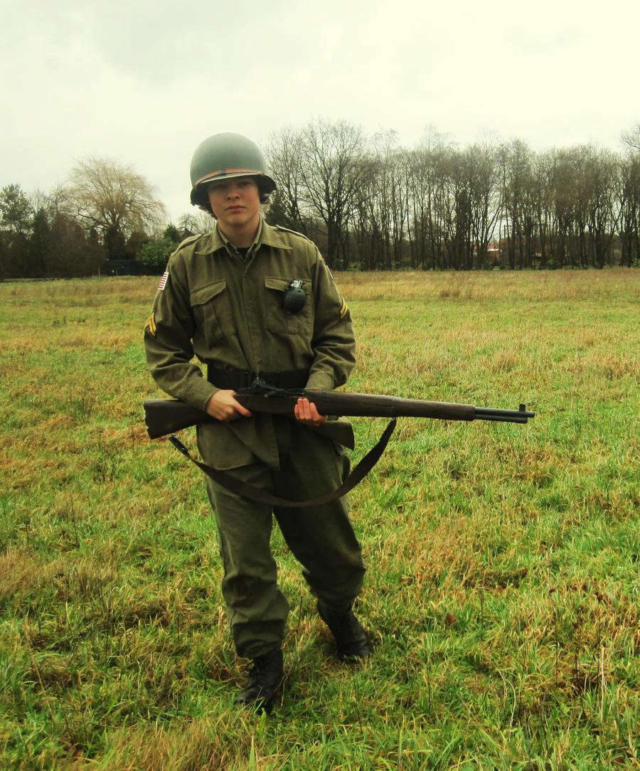 My in my airborne-isch suit :D by bulletinyurass