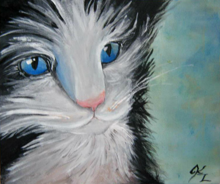 Sapphire Kitty by TheStillNightAir