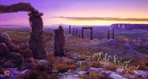 Desert Sunset by Apollyon888